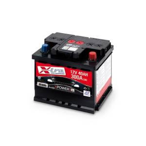 Batterie Auto - Batterie 12V 40 AH X-TRA prête à l'emploi