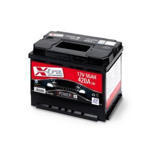 Batterie Auto - Batterie 12V 55 AH X-TRA prête à l'emploi