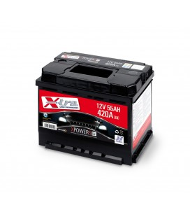 Battery Auto - Accumulator 12V 55 AH X-TRA ready to the use