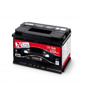 Batteria Auto - Accumulatore 12V 70 AH X-TRA pronta all'uso
