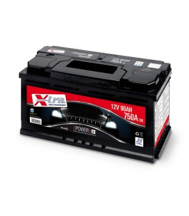 Batteria Auto - Accumulatore 12V 90 AH X-TRA pronta all'uso