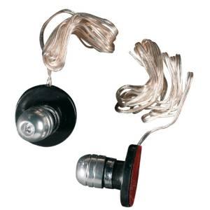 "Luci targa per moto a LED regolabili ""ATTACK"" BLU 2 Pezzi"