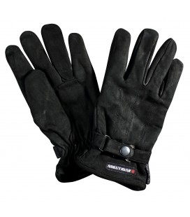 """Gloves in """"SAVE"""" suede leather, color black Size L"""