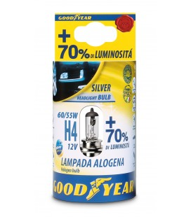 Lampada Alogena per auto Good Year H4 12V 60/55W + 70% Luminosità