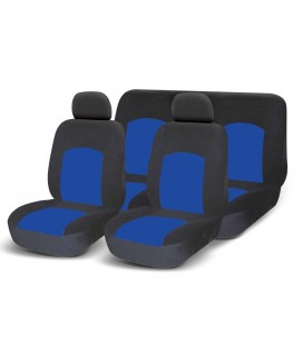Set of universal elasticized seat covers-BLUE