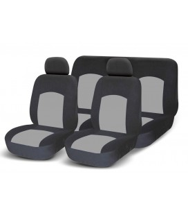 Set of universal elasticized seat covers-GREY