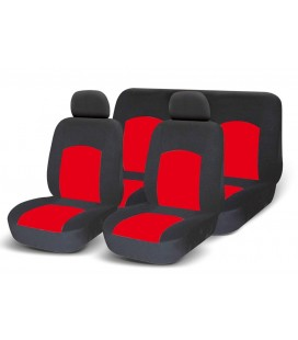 Set of universal elasticized seat covers-RED