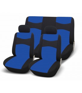 SPEED UP2 CAR SEAT COVER SET - BLUE-BLACK