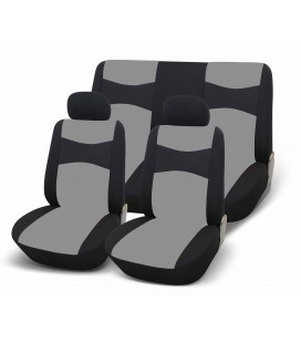 Set of universal elasticized seat covers