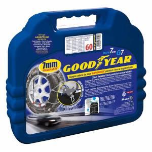 """Catene da neve mis. 60 Goodyear premium 7 mm """"G7"""" a maglia ritorta"""