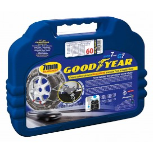 """Catene da neve mis. 130 Goodyear premium 7 mm """"G7"""" a maglia ritorta"""