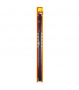 Refill for wiper blades with graphite rubber 700 mm