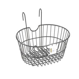 Front black metal basket whit hooks