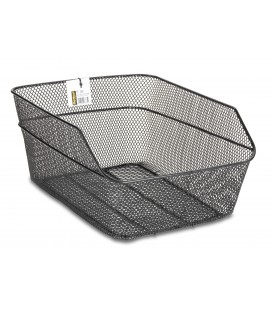 Rear black metal basket