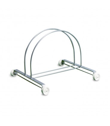 Aluminium stand for bicycle with wheels