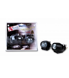 "Pair of lenticular ""fog lamps"" headlights"