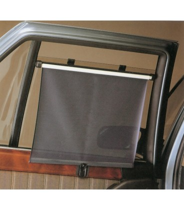 Couple of side black car curtains equipped with sticker and 6 suction cups 45 x 35 cm