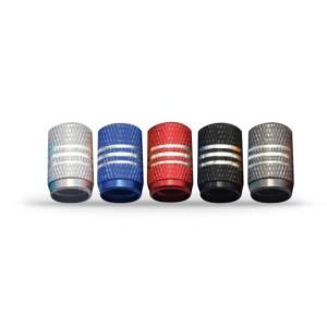 """Tire Cup"" Valve caps set dark blue"
