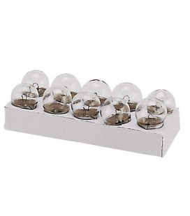 Spherical lamps 12V 10W 10Pcs.