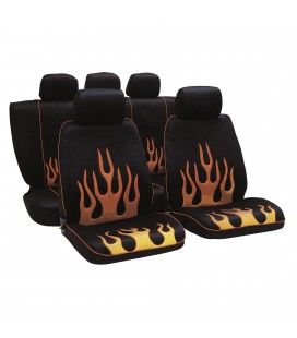Red Infern seat covers set