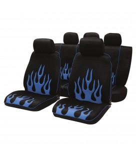 Blue Infern seat covers set