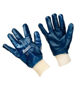 Working gloves jersey/nitrile elasticated cuff
