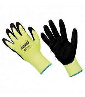 Working gloves nylon/nitrile