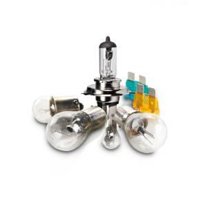 Satz zugelassener Lampen H4, komplett mit Sicherungen