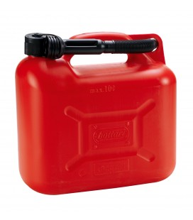 Fuel can with 10 liters spout homologated