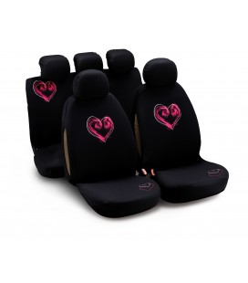 "Completo fodere auto ""MY BLACK HEART"" 9 pcs"