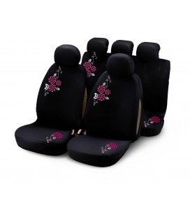 "Completo fodere auto ""MY FLOWER SWIVEL"" 9 pcs - rosa"