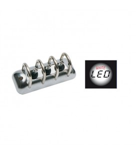 Interruttore Tripolo a led Cromato Led Bianco accessorio Tuning