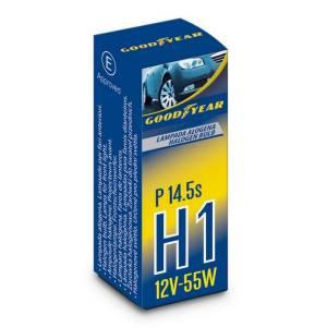 Lampada alogena H1 12V 55W P14,5s per fari anteriori
