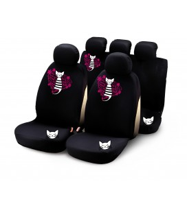"""Completo fodere auto """"MY SWEET KITTY"""" 9 pcs - rosa"""