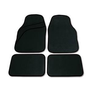 Set tappeti moquette universali Wave nero 4 pezzi