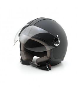 Casco Jet Skin Emotion pelle nero S