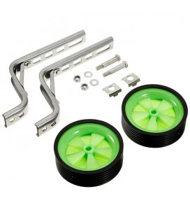 Set of 2 universal trainer wheels for bicycle with 12/20 inch attaks