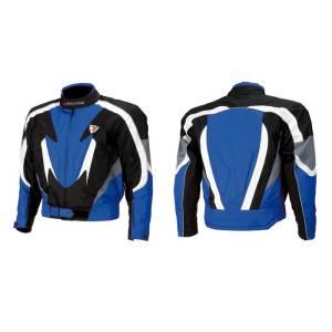 Giacca moto INDIANAPOLIS nero e blu taglia XL