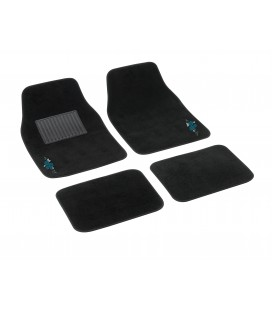 "4 pcs textile car mats ""MY FLOWER SWIVEL"""