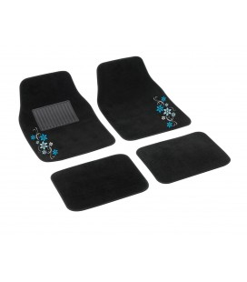 "4 pcs textile car mats ""MY STAR"""