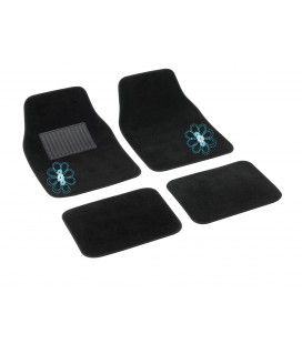 "4 pcs textile car mats ""MY SPRING FLOWER"""