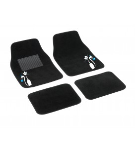 "4 pcs textile car mats ""MY SWEET CAT"""