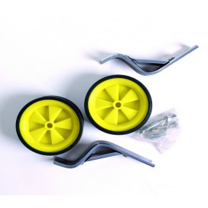 Coppia ruote stabilizzatrici per bicicletta con attacchi 14 pollici Giallo