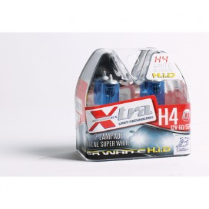 Lumière blanche trés puissante 12V H4 60/55 W X-TRA Set 2 pz