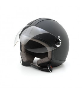 Jet helmet Skine motion leather black L