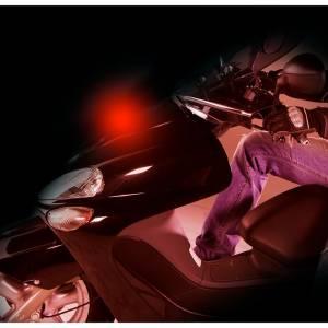 Proiettore luminoso per moto SHINE, rosso