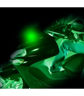Bright projector for motorcycles SHINE, green