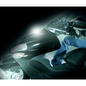 Proiettore luminoso per moto SHINE, bianco