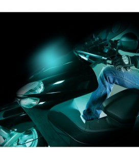 Bright projector for motorcycles SHINE, blue