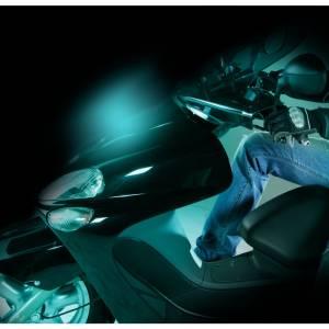 Proiettore luminoso per moto SHINE, blu